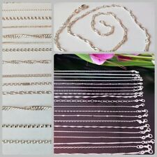 10 Stk verschiedene Halsketten Kette für Anhänger 925 Silber pl Händler Posten