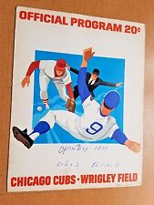 1974 OPENING DAY Chicago Cubs vs. Philadelphia Phillies program scorecard
