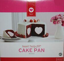 Valentine's Day Wilton Nonstick Heart Tasty Fill Cake Pan Set NIB