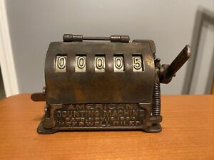 American Counting Machine Antique Circa 1897 Mechanical Counter Cast Iron Works