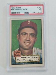 Ken Heintzelman 1952 Topps PSA 3 VG #362 - Philadelphia Phillies