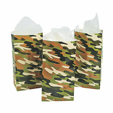 Camouflage Treat Bags - Party Supplies - 12 Pieces