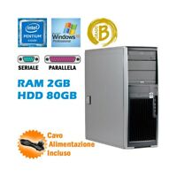 WORKSTATION HP XW4200 PENTIUM 4 RAM 2GB HDD 80GB RS232 PARALLELA WINDOWS XP.