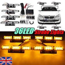 36 LED ambra auto camion lampeggiante emergenza griglia recupero luce strobo 4 B