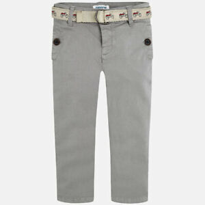 Mayoral Boys Satin chino trousers with belt Slim fit sizes 2,3,5 & 6 YEARS 4508