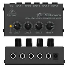 BEHRINGER MICROMIX MX400 mixer line 4 canali ultra-compatto NUOVO garanzia ITA