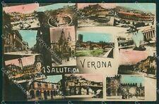 Verona Città Saluti da Foto cartolina QK7397