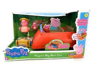 Peppa Pig - BIG RED CAR - With Sounds & Figures - NEW Damaged Box