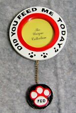 Photo Magnet Did you Feed Me Today? Dog or Cat Paw Print - Fed, Not fed Reminder