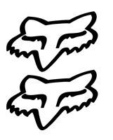 2 Pegatinas vinilo,Aufkleber,sticker, FOX ELIGE TU COLOR 14 CM