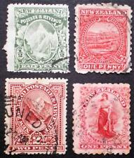 New Zealand 1901 - 1902 small group of used stamps