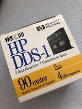 5 Hp DDS DATA CATRIDGE 90 Meter 4 GByte 5 Data Kassetten