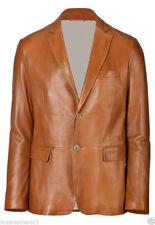 Men Genuine Lambskin Leather Blazer Coat Soft High Quality