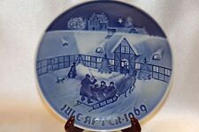 "Bing Grondahl Blue 1969 Jule After Collector 7"" Plate Arrival Christmas Guests"