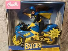 BARBIE AS BATGIRL DOLL & BAT CYCLE MATTEL C7458 MINT NRFB