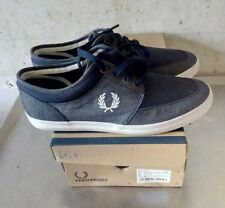 FRED PERRY STRATFORD  CHAMBRAY CANVAS NAVY 44 EU NEW OG BOX