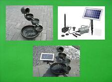 Solar Solarbrunnen mit Akku Batterie Kaskadenbrunnen Gartenbrunnen Brunnen Ton !