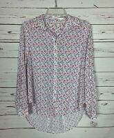 Jane and Delancey Anthropologie Women's S Small Floral Long Sleeve Top Blouse