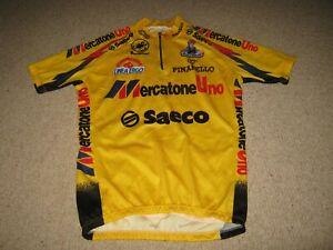 Mercatone Uno Saeco Pinarello Castelli Italian cycling jersey [L adult] 1995