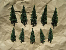 NEW ~ 10 Classic FIR (PINE) TREES by HEKI ~ N Scale Lot ~ Mayhayred Trains