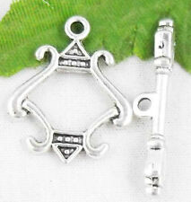 18Sets Tibetan Silver Nice Toggle Clasps 23x18mm  (Lead-free)