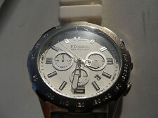 Fossil chronograph mens silicon rubber band watch.Ch-2530.Analog & battery