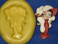Betty Boop Push Mold Flexible Resin Clay Candy Food Safe Silicone #990 Soap