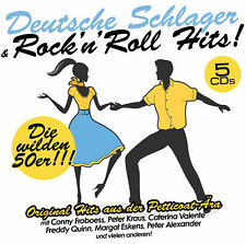 CD DEUTSCHE SCHLAGER et Rock 'n' Roll Hits d'Artistes Divers 5CDs