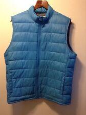 Women's Sonoma Life + Style Blue Puffer Vest Nylon Size Large L