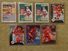 Lot of 7 Niklas Lidstrom Hockey Cards - Circa 1992 to 1995