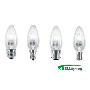 Various Packs of Bell Halogen Candles- 18w 28w 42w BC SBC ES SES (Energy Saving)