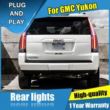 For GMC Yukon Dark / Red LED Rear Lamp Assembly LED Tail Light 2015-2017