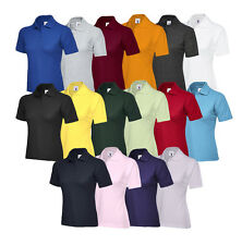 Uneek Ladies Polo Shirt Top Sizes 8 - 22 Womens Casual Tee Classic Fit (UC106)