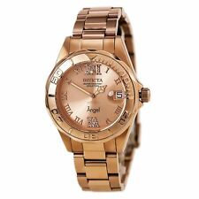 Invicta 14398 Womens Angel Rose Gold Dial Rose Gold Steel Watch