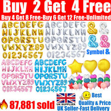 Alphabet A-Z Letter Number Foil Balloons Star Heart Balloon Name Party Wedding