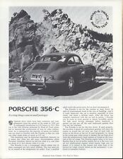 Road & Track Article Reprint from February 1964 -- Porsche 356-C --
