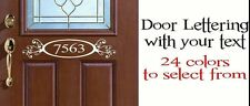 Door Lettering with scroll, Personalized Numbers Vinyl Die Cut Decal Sticker 24""