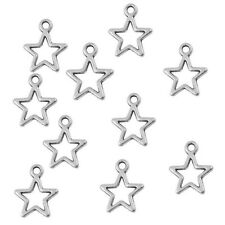 Star Charm Pendant Tibetan Silver 14mm Pack of 30 Pieces
