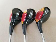 Vintage Ping Eye 2 Wood Set 1, 3, And 5 Zz Lite Stiff Flex Steel Golf Clubs