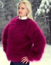 Purple hand knitted mohair sweater fuzzy handmade fluffy jumper SUPERTANYA SALE