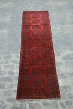 Stunning Afghan hand knotted rug runner / Turkoman Filpai rug runner / vintage