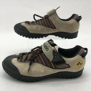 Shimano Mens SPD Mountain Cycling Shoes Beige Lace Up Hook And Loop SH-M036W 7