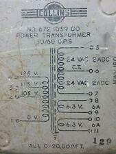 Collins Filament Transformer 24V-Ct-24V @ 2 X 6.3V @ 6 A