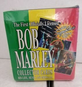 BOB MARLEY LEGEND TRADING CARDS - NEW FACTORY SEALED BOX