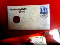 2015 CENTENARY OF WWI  GALLIPOLI AUSTRALIAN COIN COVER