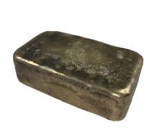 Brass Ingot Large 3lb Hand Poured Pure Brass Metal Bullion 4in X 2.5in X 1in