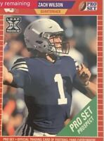 ***IN HAND 2021 Leaf Pro Set ZACH WILSON Rookie Card #PS5 SP BYU QB