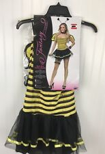 New Sexy Bee Halloween Costume Womens Sm-Med 2-8 Yellow Black Stripe Short Dress