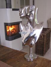 Frau Alu Aluminium Deko Figur Abstrakte Skulptur Statue Impressionen Art Modern