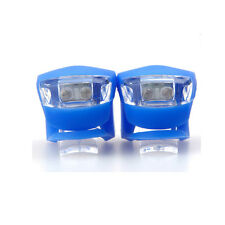2PCS Blue Shining Front / Rear Lights For Cycling Bicycle Sport 3 Working Model